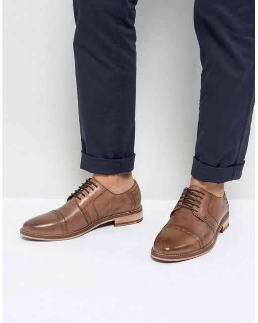 Frank Wright - Brown Brogues In Tan Leather for Men - Lyst