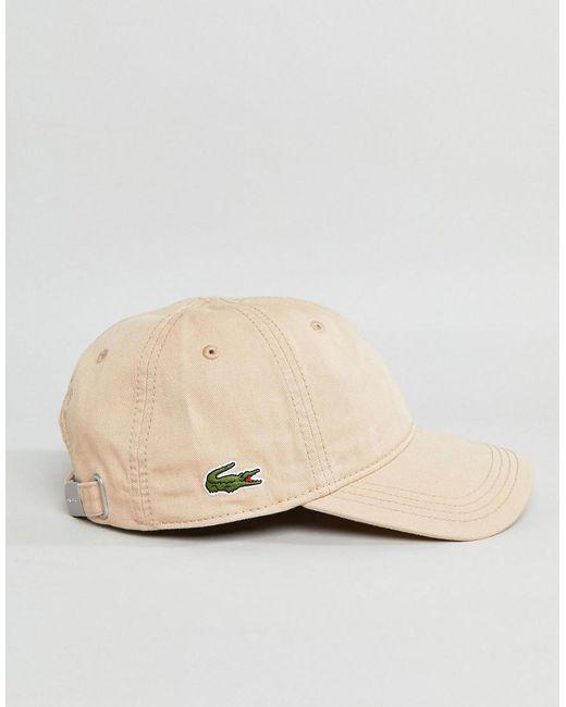 Logo Baseball Cap In Cream - Cream Lacoste 2gnfT8J3E