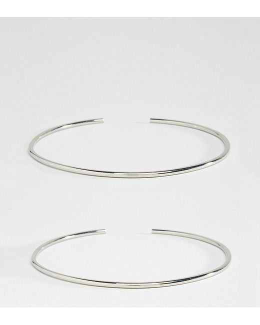 ASOS - Metallic Pack Of 2 Fine Arm Cuffs - Lyst