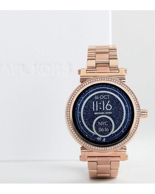 Michael Kors - Metallic Access Mkt5022 Sofie Bracelet Smart Watch In Rose Gold for Men - Lyst