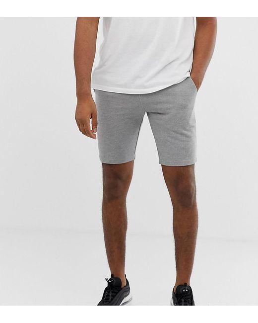 e724cd79402 ASOS - Gray Pantalones cortos ajustados de punto en gris de Tall for Men -  Lyst ...