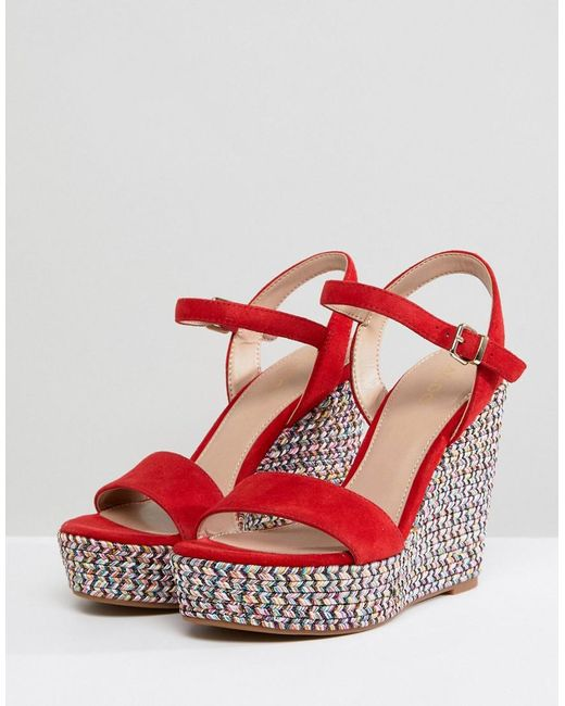 Aldo Two Part Wedge Shoe in with Textured Heel RqAGAW