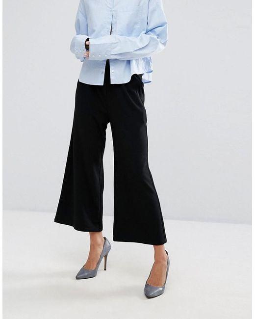 Abel Cropped Wide Leg Trouser - Black Dr. Abel Recadrée Jambe Large Pantalon - Dr Noir. Denim Toile De Jean zVvpEG