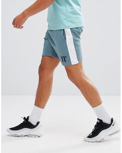 11 Degrees - Shorts In Blue With Stripe for Men - Lyst