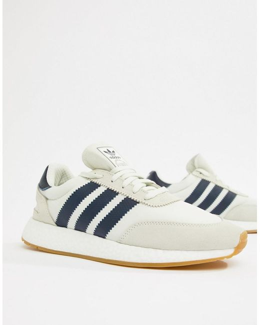 los angeles 1079b ee8b8 ... Adidas Originals - I-5923 Boost Suede Sneakers In White B37947 for Men  - Lyst