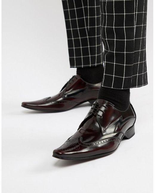 Бордовые Туфли Со Шнуровкой - Красный Jeffery West для него, цвет: Black