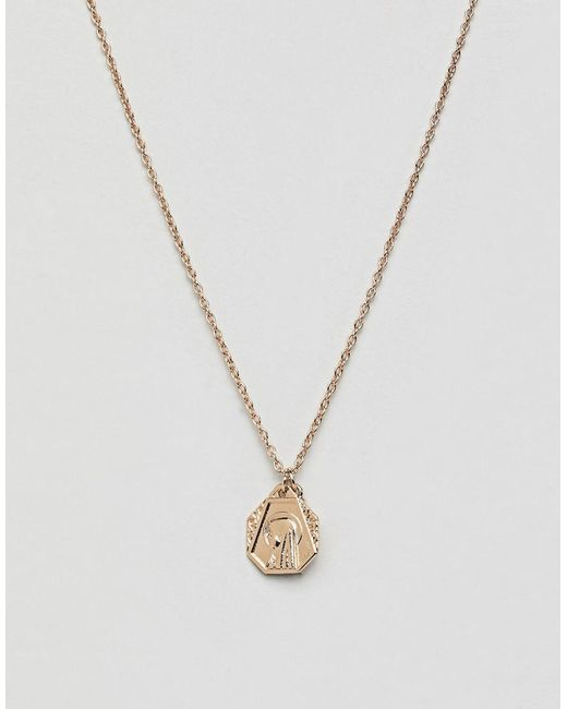 ASOS - Metallic Icon Charm Cluster Necklace - Lyst