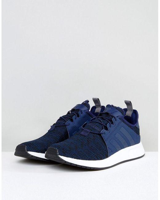 lyst adidas originals x plr sneakers in blau - by9256 für männer