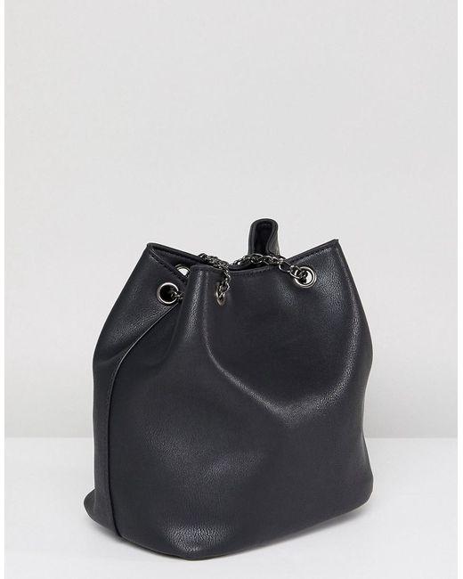 Slouchy Shoulder Bag in Black with Tassel - Black Yoki Fashion 4L1f4