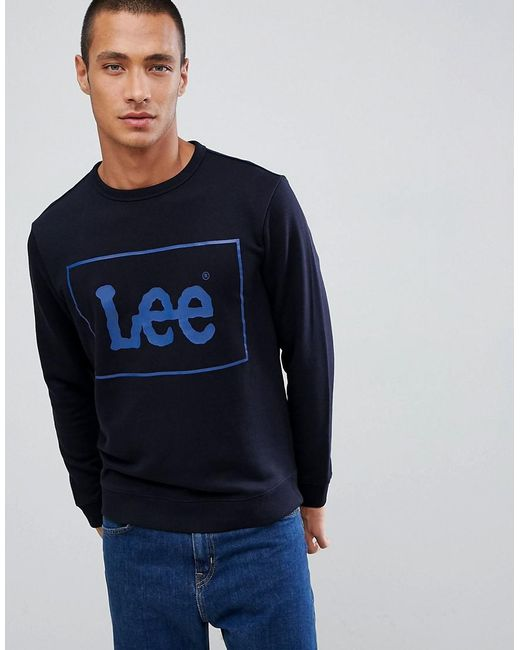 Lee Jeans - Blue Jeans Box Logo Sweater for Men - Lyst