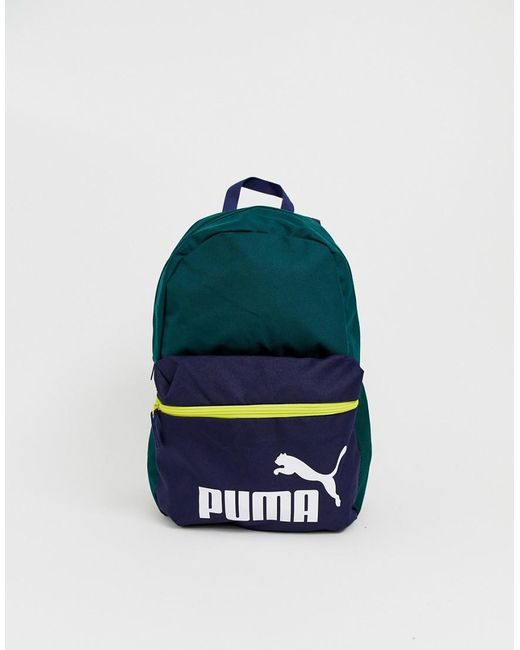 8379fe7803 PUMA - Phase Colour Block Backpack In Green for Men - Lyst ...