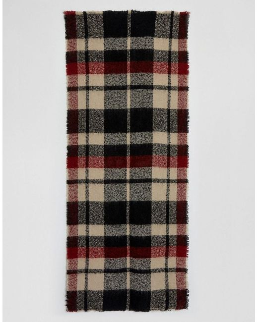 Oversized Check Scarf - Red check Stitch & Pieces