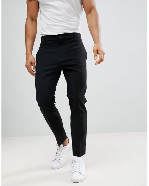 e32afb28bcf3 Weekday Riffle Trousers Black in Black for Men - Lyst