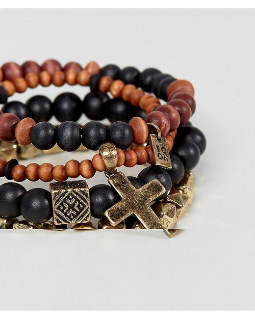 Icon Brand - Orange Barrier Thief Bracelet Pack for Men - Lyst