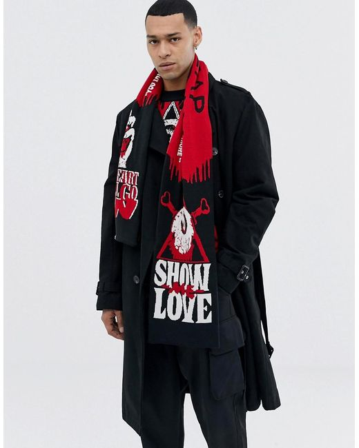Cheap Monday - Red Charpe motif Show me love for Men - Lyst