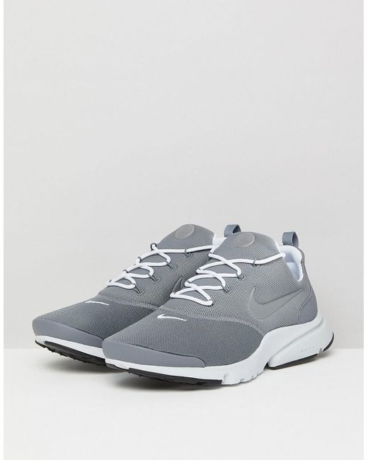 ... Nike | Gray Presto Fly Trainers In Grey 908019-012 for Men | Lyst ...