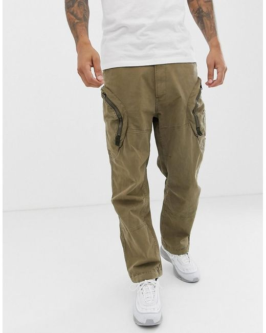 ab1f9660d3c G-Star RAW - Green Rovic 3d Airforce Zip Cargo Trousers In Sand for Men ...