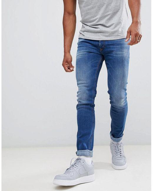 68cc4725 DIESEL - Blue Sleenker Skinny Fit Jeans In 084yk for Men - Lyst ...