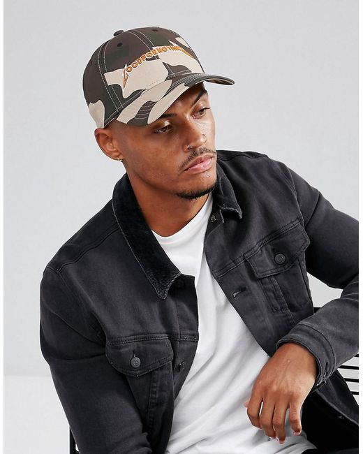 Good For Nothing - Green Baseball Cap In Camo With Logo for Men - Lyst