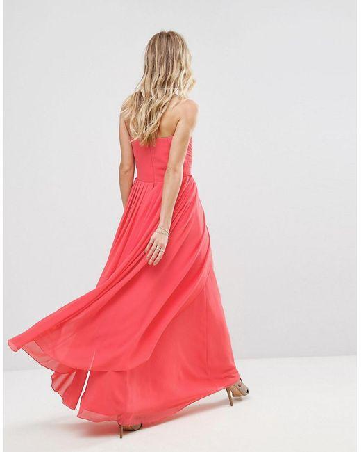 Yas molly pink dress