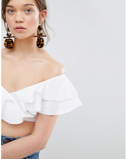 ASOS | Metallic Statement Tortoise Earrings | Lyst