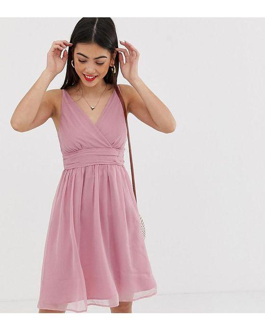 ab10d52a3d2b Vero Moda - Pink Ruche Detail Dress - Lyst ...