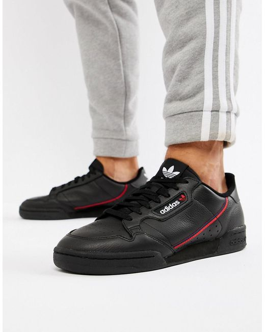 3f1cd0510af0 Adidas Originals - Continental 80's Trainers In Black B41672 for Men ...
