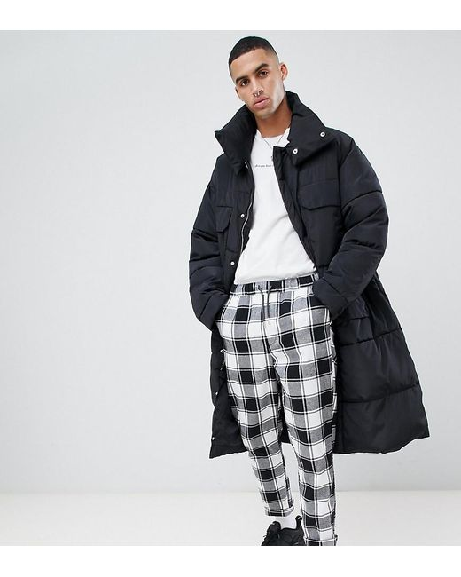 Sixth June - Oversized Puffer Coat In Black Exclusive To Asos for Men - Lyst
