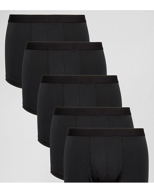 ASOS | Trunks 5 Pack In Black Microfibre Save for Men | Lyst