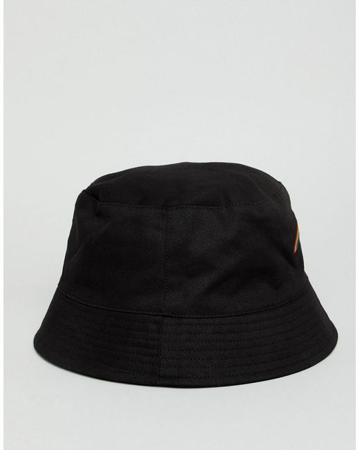 f33a4952a48 Lyst - ASOS Bucket Hat In Black With Rainbow Embroidery in Black for Men