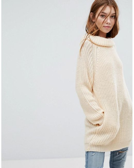 Oeuvre - Natural Roll Neck Jumper - Lyst