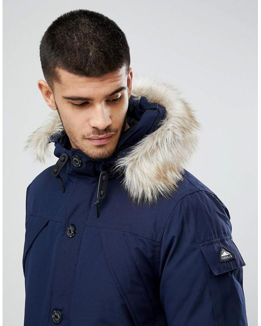 Penfield Hoosac Down Insulated Parka Jacket Detachable Faux Fur ...