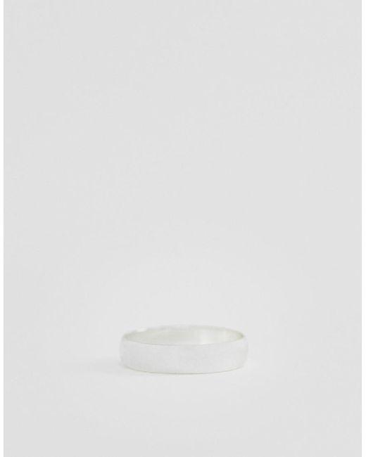 ASOS Metallic Minimal Ring In Silver