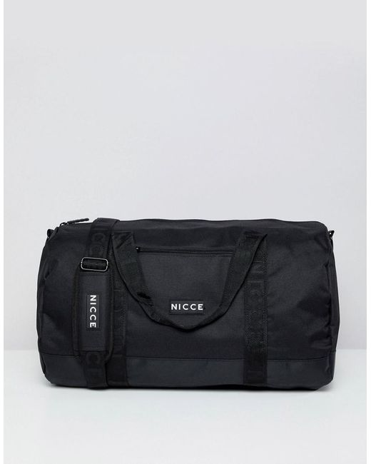 91a233692adb Nicce London Nicce Holdall In Black in Black for Men - Lyst