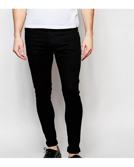 Men's Jeans Stretch Super Skinny Black