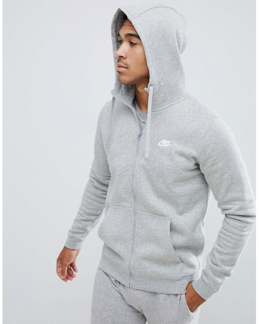 e03d0c929 Nike - Gray Tall Zip Up Hoodie With Futura Logo In Grey for Men - Lyst ...