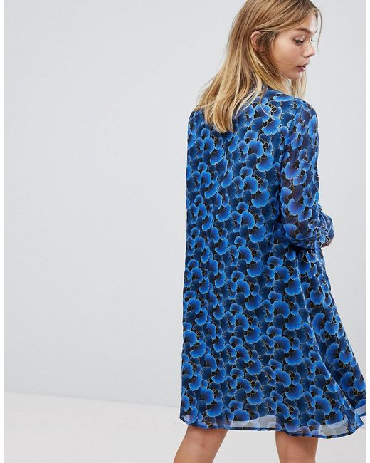 Sneakernews High Neck Dress - Blue Y.A.S Buy Cheap Discounts OasyDLAena