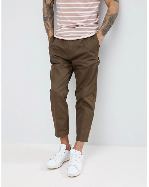 HUGO - Green Cargo Trousers In Khaki for Men - Lyst
