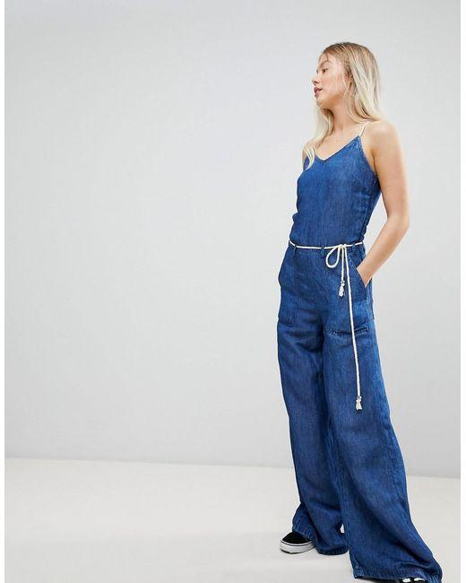 search for original pretty cheap complete range of articles Women's Blue Flyer Retro Denim Jumpsuit