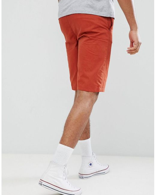PLUS Elastic Waist Shorts - Red D-Struct Outlet Big Discount Discount Popular Excellent Cheap Price Exclusive Cheap Price Release Dates Authentic tPWWNj