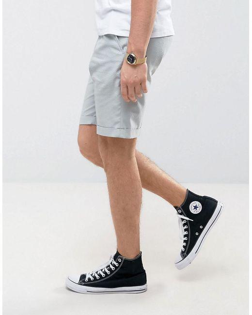... ASOS | Blue Tailored Skinny Shorts In Sage Green Seersucker Stripe for  Men | Lyst
