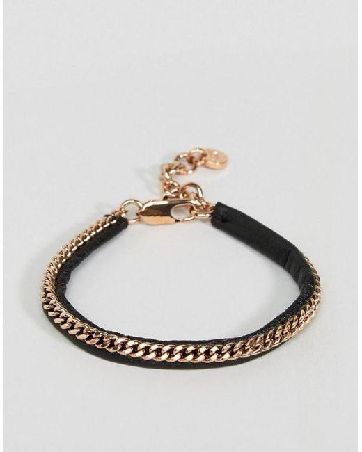 Dyrberg/Kern - Metallic Chain Bracelet - Lyst