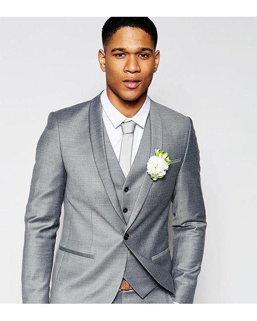Lyst - Noak Summer Flannel Wedding Suit Jacket In Super Skinny Fit ...