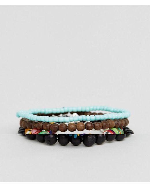 ASOS | Multicolor Multi Colored Beaded Bracelet Pack for Men | Lyst