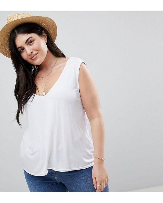 Boohoo - Tank Top In White - Lyst