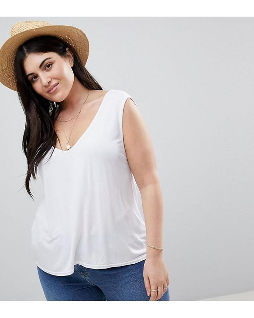 Boohoo - Basic Vest Top In White - Lyst