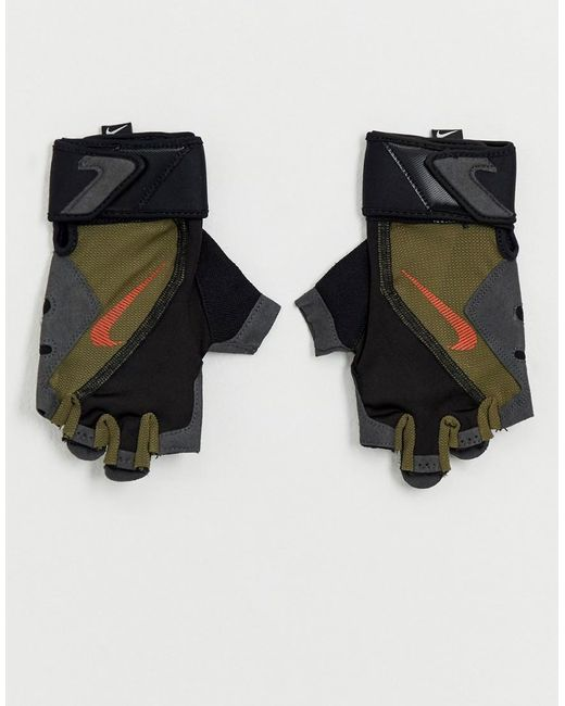 Nike - Green Gants de sport - Kaki for Men - Lyst