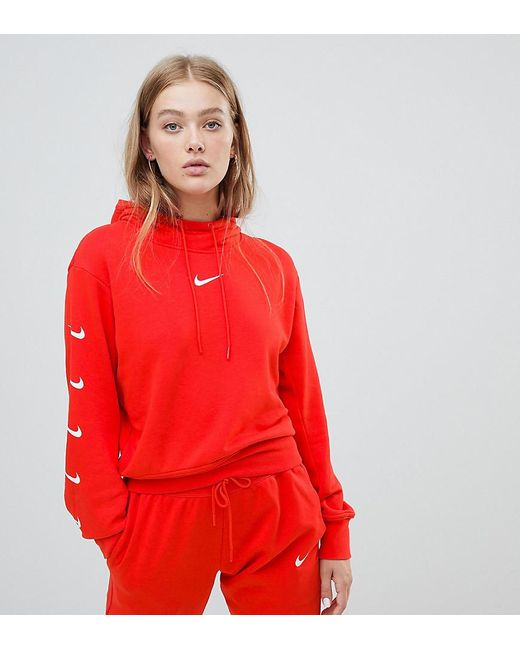 542846d2d Nike Plus Exclusive To Asos Red Swoosh Pack Hoodie in Red - Save 7 ...