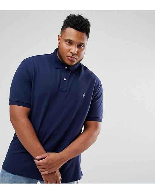4e6dee84a Polo Ralph Lauren - Blue Big & Tall Pique Polo Shirt With Player Logo In  Navy ...