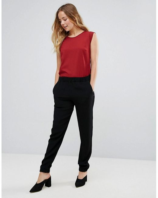 French Connection | Black Emma Crepe Joggers | Lyst